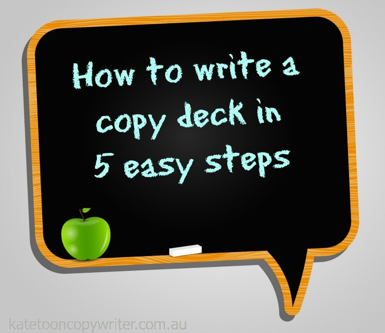 How to write a copy deck in five easy steps