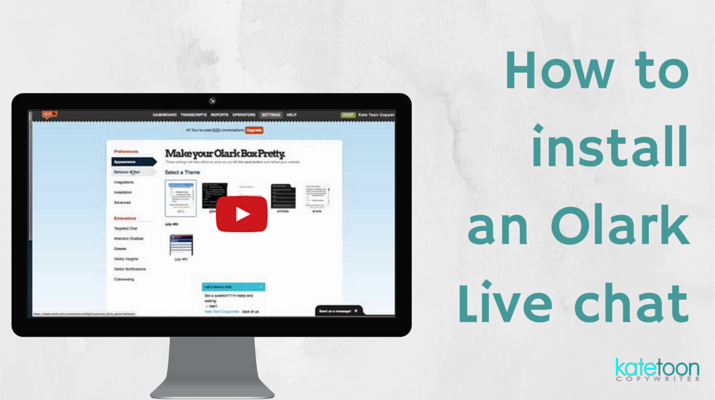 VIDEO: How to install an Olark Live chat