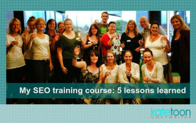 My SEO Training course: 5 lessons learned