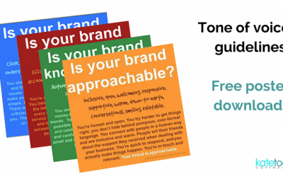 Tone of voice guidelines: Free poster downloads