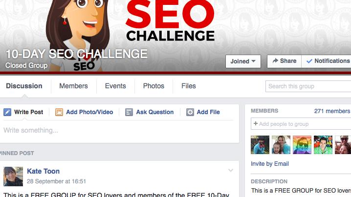 SEO-Facebookgroup