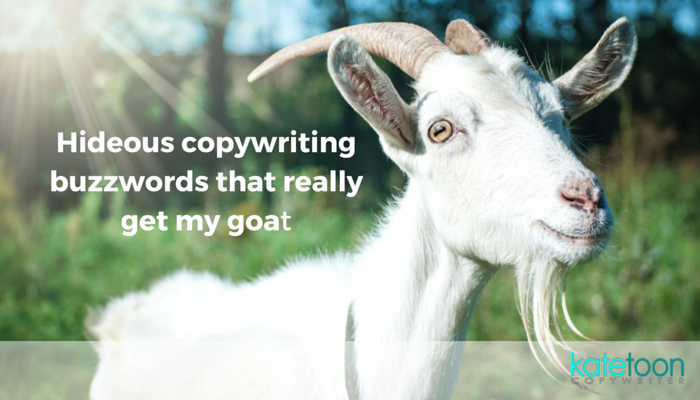 Hideous copywriting buzzwords that really get my goat