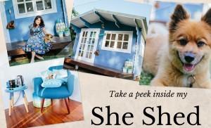 Take a peek inside my she shed