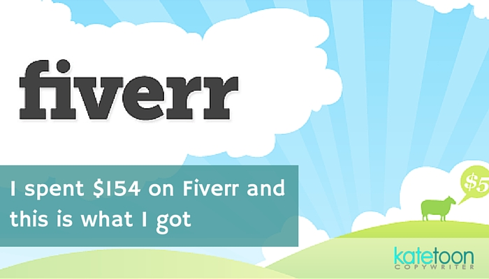 I spent $154 on Fiverr and this is what I got