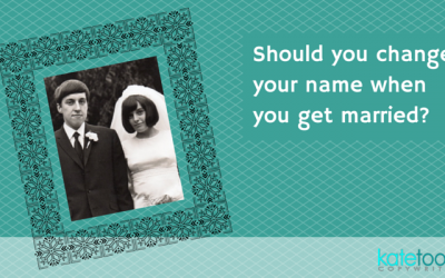 Should you change your name when you get married?