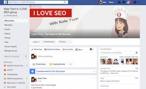 The i love seo group