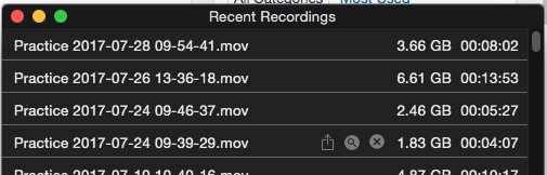 Recording mimolive
