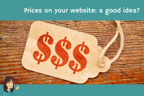 Prices on your website: a good idea?