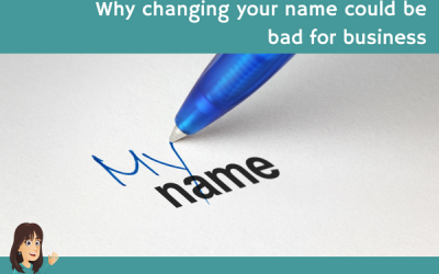 Why changing your name could be bad for business