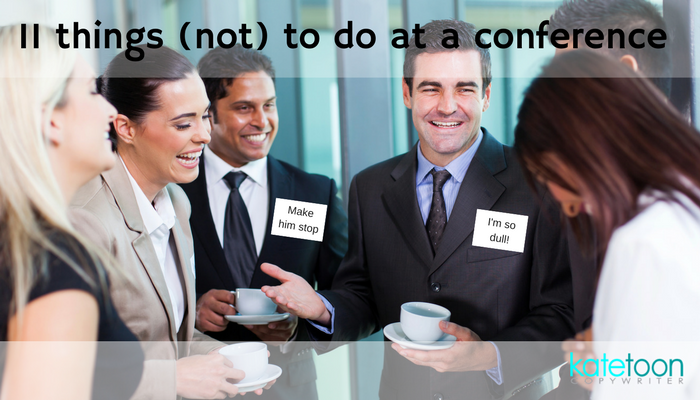 11 things (not) to do at a conference