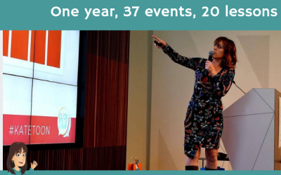 One year, 37 events, 20 lessons
